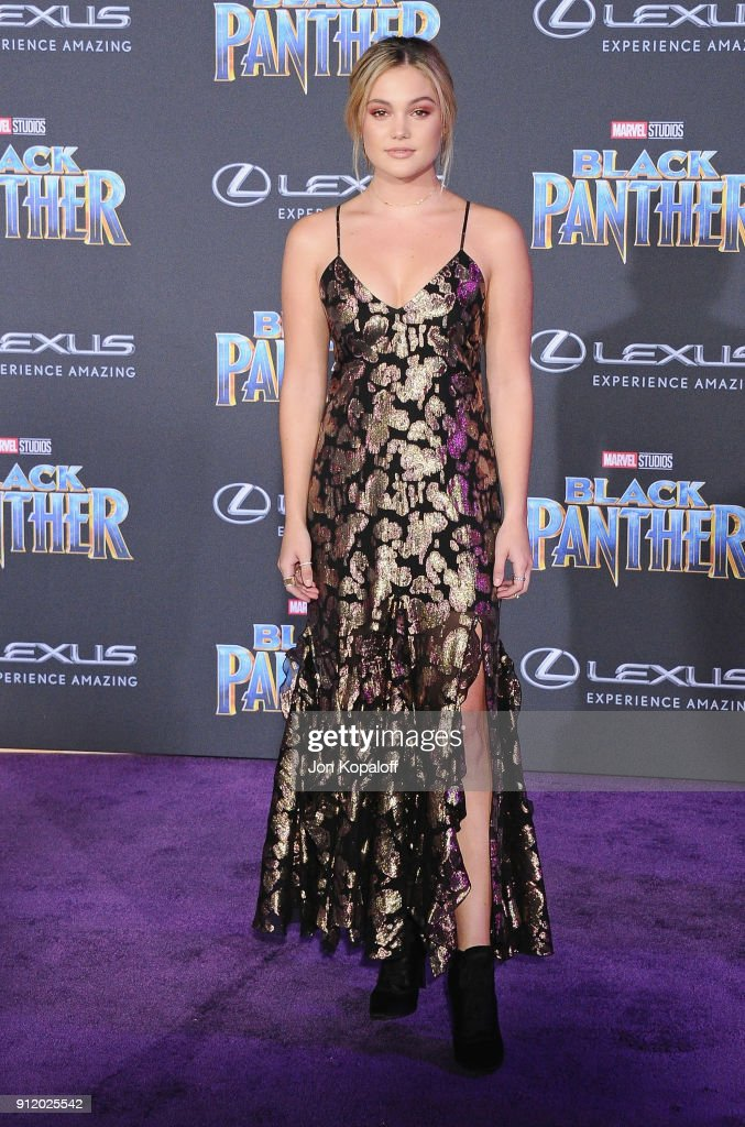 Olivia Holt attends the Los Angeles Premiere 'Black Panther' at Dolby Theatre on January 29, 2018 in Hollywood, California.