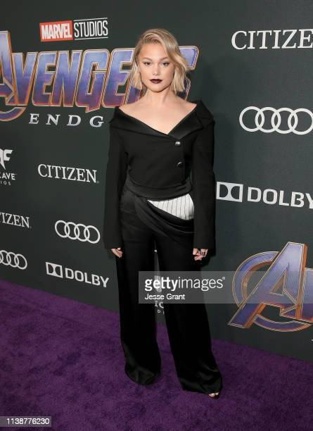 Olivia Holt attends the Los Angeles World Premiere of Marvel Studios' Avengers Endgame at the Los Angeles Convention Center on April 23 2019 in Los...