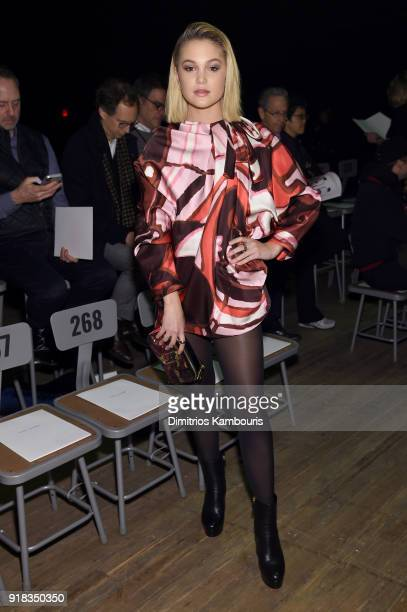 Olivia Holt attends the Marc Jacobs Fall 2018 Show at Park Avenue Armory on February 14 2018 in New York City