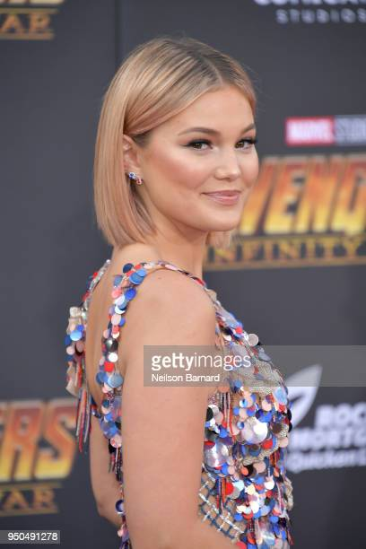 Olivia Holt attends the premiere of Disney and Marvel's 'Avengers Infinity War' on April 23 2018 in Los Angeles California