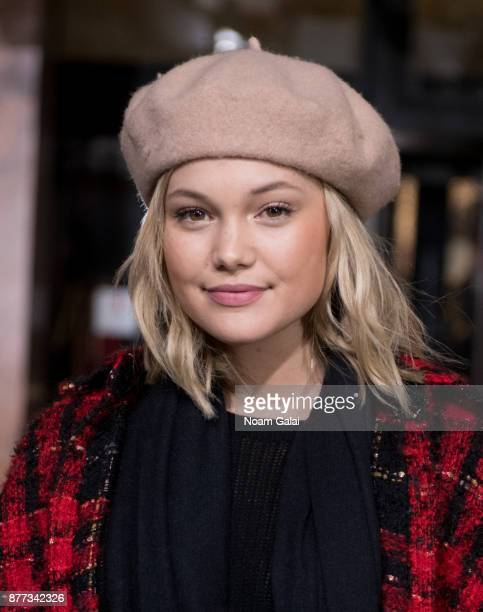 Olivia Holt attends the rehearsals for the 91st Annual Macy's Thanksgiving Day Parade on November 21 2017 in New York City