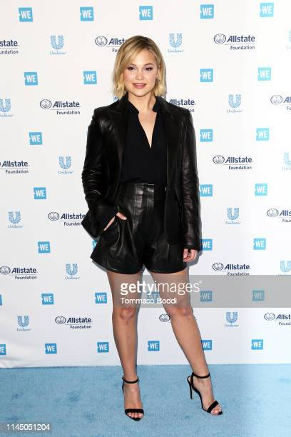 Olivia Holt attends WE Day California at The Forum on April 25, 2019 in Inglewood, California.