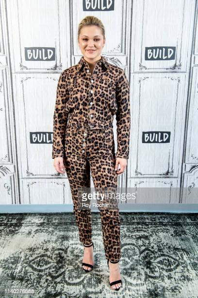 """Olivia Holt discusses Marvel's """"Cloak and Dagger"""" with the Build Series at Build Studio on April 03, 2019 in New York City."""