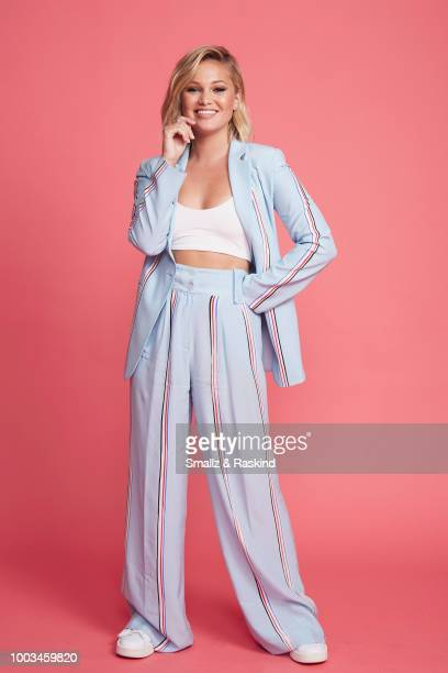 Olivia Holt from Marvel's 'Cloak Dagger' poses for a portrait at the Getty Images Portrait Studio powered by Pizza Hut at San Diego 2018 Comic Con at...