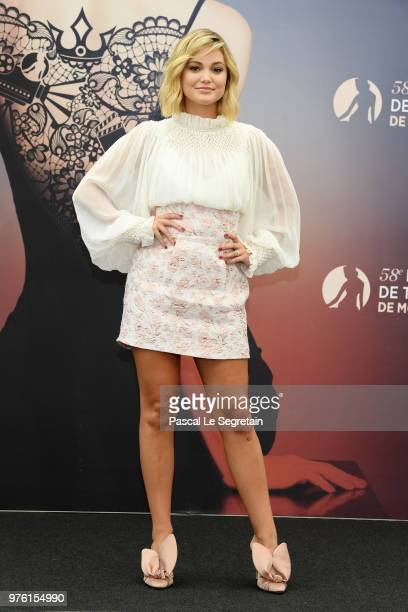 Olivia Holt from the serie Cloak and Dagger attends a photocall during the 58th Monte Carlo TV Festival on June 16 2018 in MonteCarlo Monaco