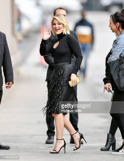 Olivia Holt is seen on April 29, 2019 in Los Angeles, California.