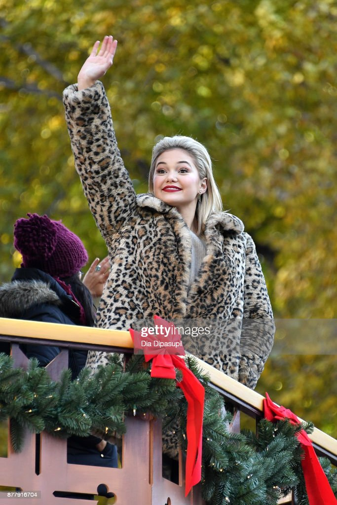 Olivia Holt rides in the 91st Annual Macy's Thanksgiving Day Parade on November 23, 2017 in New York City.