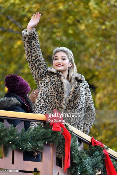 Olivia Holt rides in the 91st Annual Macy's Thanksgiving Day Parade on November 23 2017 in New York City