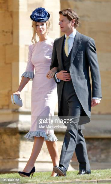 Olivia Hunt and Nicholas Wilkinson attend the wedding of Prince Harry to Ms Meghan Markle at St George's Chapel Windsor Castle on May 19 2018 in...