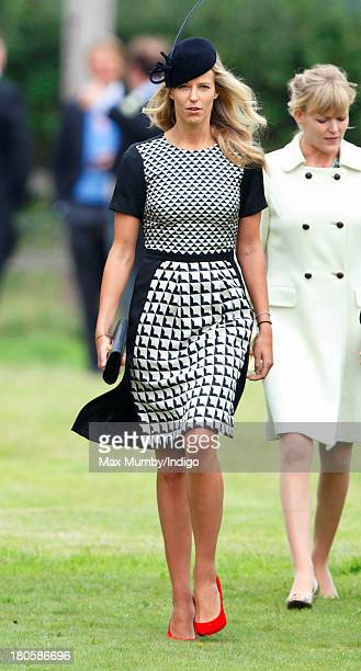 Olivia Hunt attends the wedding of James Meade and Lady Laura Marsham at the Parish Church of St Nicholas in Gayton on September 14 2013 near King's...