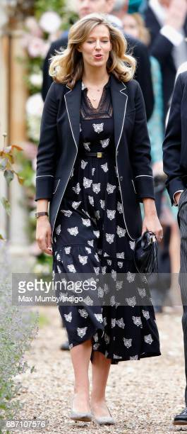 Olivia Hunt attends the wedding of Pippa Middleton and James Matthews at St Mark's Church on May 20, 2017 in Englefield Green, England.