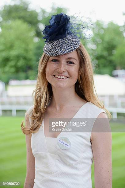 Olivia Hurley attends day 3 of Royal Ascot at Ascot Racecourse on June 16 2016 in Ascot England