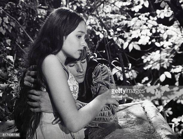 Olivia Hussey and Leonard Whiting star as Romeo and Juliet in the 1968 film version of the classic Shakespearean tale of the two young lovers from...