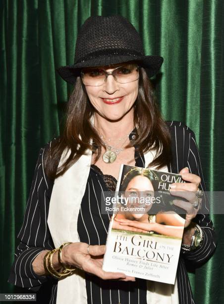 Olivia Hussey presents her memoir 'Girl on the Balcony' at Vroman's Bookstore on August 7 2018 in Pasadena California