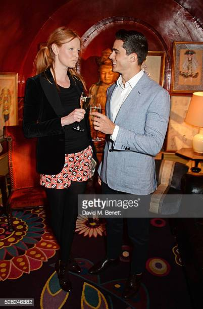 Olivia Inge and Pietro Boselli attend an intimate performance by All Saints at Annabel's on May 4 2016 in London England