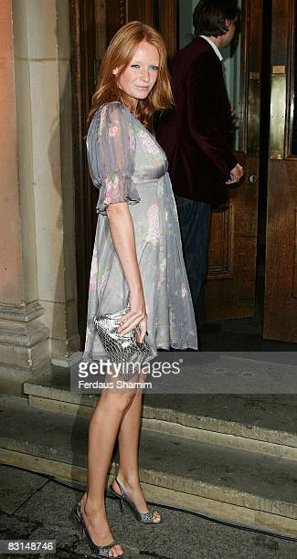 Olivia Inge attends the Evening Standard's party celebrating London's 1000 Most Influential People 2008 at The Wallace Collection on October 6 2008...