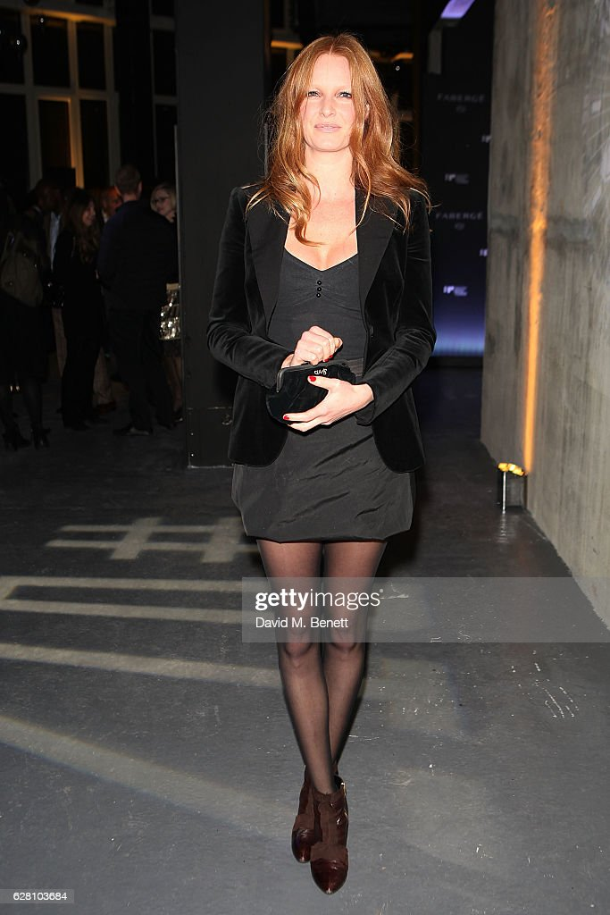 Olivia Inge attends the launch of the 'Faberge Visionnaire DTZ', Faberge's new timepiece, at South Bank Tower on December 6, 2016 in London, England.