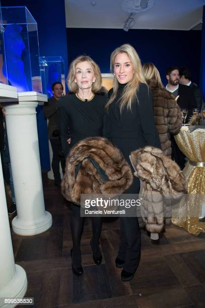 Olivia Innocenti and Helga Innocenti attend Galerie Gmurzynska Hosts Diana WidmaierPicasso in Celebration of Mene 24K and Yves Klein on December 27...