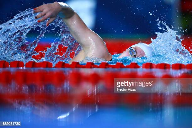 Olivia Jablonska of Hungary competes in Women's 400 m Freestyle S10 during day 6 of the Para Swimming World Championship Mexico City 2017 at...