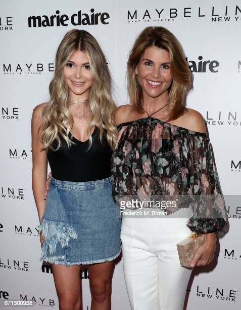 Olivia Jade and actress Lori Loughlin attend Marie Claire's 'Fresh Faces' celebration with an event sponsored by Maybelline at Doheny Room on April...