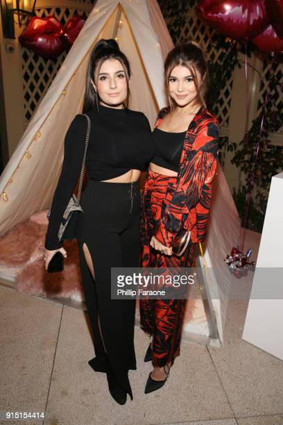 Olivia Jade and guest attend Victoria's Secret Ultimate Girls Night In with Angels Josephine Skriver and Romee Strijd at Peninsula Hotel on February...