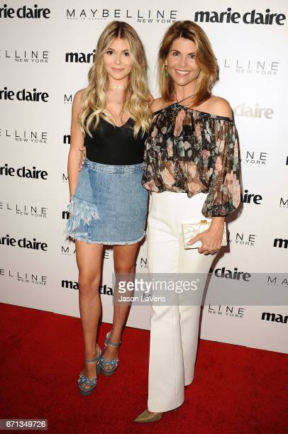 Olivia Jade and Lori Loughlin attend Marie Claire's Fresh Faces event at Doheny Room on April 21 2017 in West Hollywood California