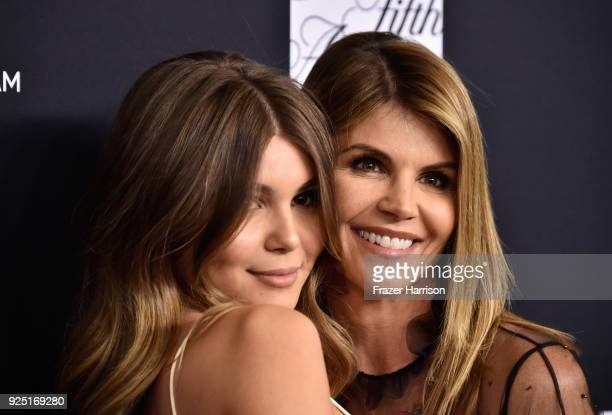 Olivia Jade and Lori Loughlin attend WCRF's An Unforgettable Evening at the Beverly Wilshire Four Seasons Hotel on February 27 2018 in Beverly Hills...