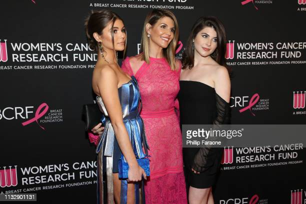 Olivia Jade Giannulli Lori Loughlin and Isabella Rose Giannulli attend The Women's Cancer Research Fund's An Unforgettable Evening Benefit Gala at...