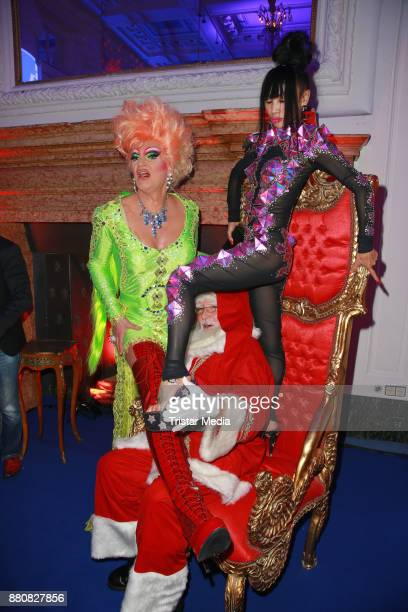 Olivia Jones and Bai Ling attend the Movie Meets Media event 2017 at Hotel Atlantic Kempinski on November 27 2017 in Hamburg Germany