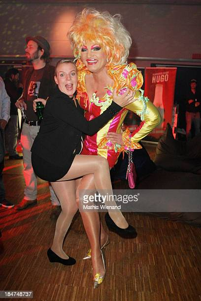 Olivia Jones and Mirja Boes attend the 17th Annual of the German Comedy Awards at Coloneum on October 15 2013 in Cologne Germany