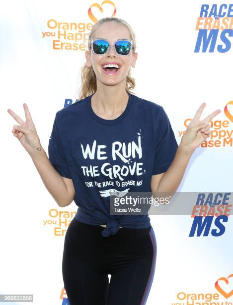 Olivia Jordan attends The Grove hosts We Run the Grove Race to Erase MS at The Grove on June 3 2018 in Los Angeles California