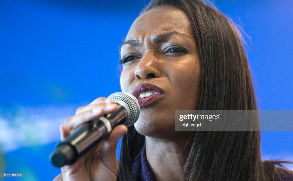 Olivia Joseph performs 'Stand in the Light' at the Center for American Progress event 'Debbie Allen On Arts and Lived Experience: Race, Violence, And Access To The American Dream' on October 24, 2016 in Washington, DC.