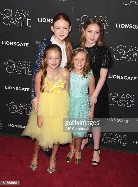 Olivia Kate Rice Sadie Sink Chandler Head and Ella Anderson attends 'The Glass Castle' New York screening at SVA Theatre on August 9 2017 in New York...