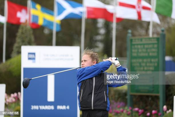 Olivia Lee during practice for the Girls' U16 Open Championship at Fulford Golf Club on April 26 2018 in York England