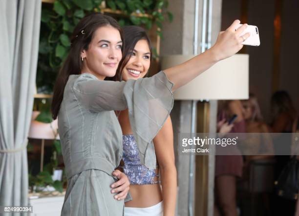 Olivia Mae Pickren and Amanda LiPaige attend Luluscom Style Society Event on July 29 2017 in West Hollywood California