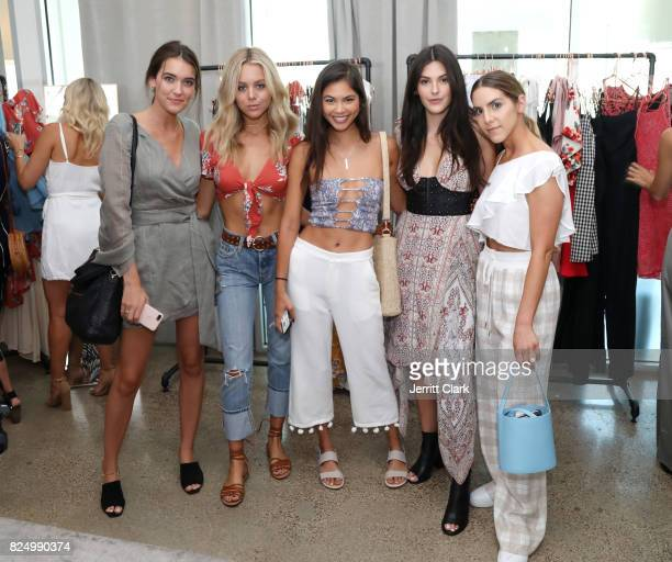 Olivia Mae Pickren Bree Kleintop Amanda LiPaige Julia Friedman and Erin Grey attend Luluscom Style Society Event on July 29 2017 in West Hollywood...