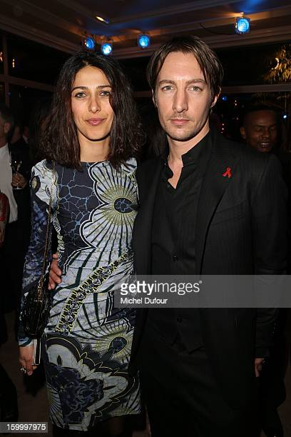 Olivia Magnani and Benn Northover attend the Sidaction Gala Dinner 2013 at Pavillon d'Armenonville on January 24 2013 in Paris France