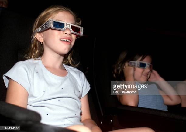 Olivia Makowsky 9 of Manhattan and her sister Chloe 6 attend Spy Kids 3D Game Over at the United Artist 14 Union Square Theater in Manhattan New York...