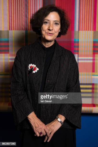 Olivia Maria Rubio attends the Louise DahlWolfe exhibition private view at The Fashion and Textile Museum on October 18 2017 in London England