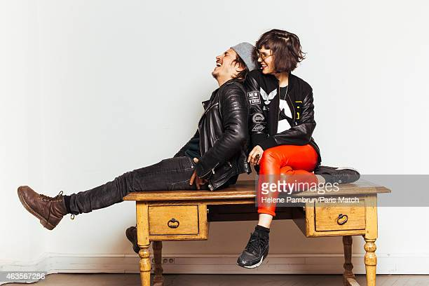Olivia Merilahti and Dan Levy of indie pop band The Do are photographed for Paris Match on January 21 2015 in Paris France