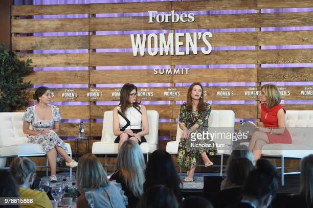 Olivia Milch Desiree Gruber Kirsten Green and Alisyn Camerota speak onstage during The Solvers Turning The Moment Into A Movement at the 2018 Forbes...