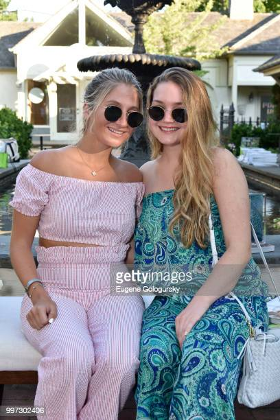 Olivia Milieu and Amelia Salvatore attend the Modern Luxury Sam Edelman Summer Fashion Event on July 12 2018 in Southampton New York