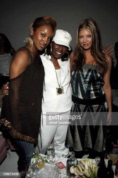 Olivia Missy Elliot and Fergie during Launch of TAB ENERGY Inside at DriveIn Studios in New York City New York United States