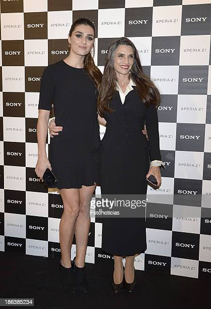 Olivia Molina and Angela Molina attend Sony Xperia Z1 photography exhibition at the Real Jardin Botanico on October 30 2013 in Madrid Spain
