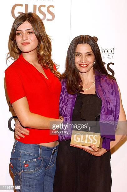 Olivia Molina and Angela Molina during Angela Molina Honored for her 30 Years as an Actress at Spanish Filmotheque in Madrid Spain