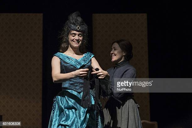 Olivia Molina and Maria Pujalte during the test 'Tristana' at Teatro Fernan Gomez on January 12 2017 in Madrid Spain