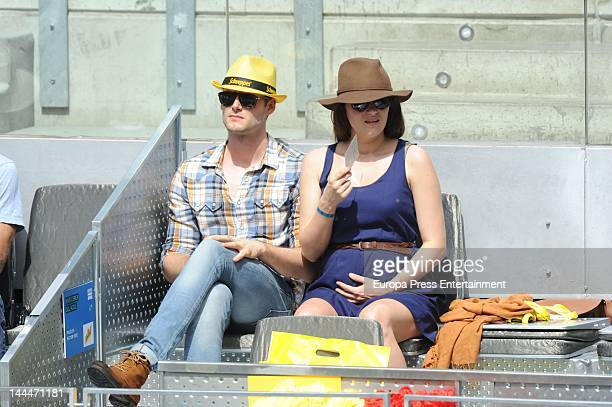 Olivia Molina and Sergio Mur attend Mutua Madrilena Madrid Open on May 12 2012 in Madrid Spain