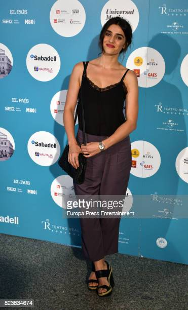 Olivia Molina attends James Rhodes concert at the Royal Theatre on July 27 2017 in Madrid Spain
