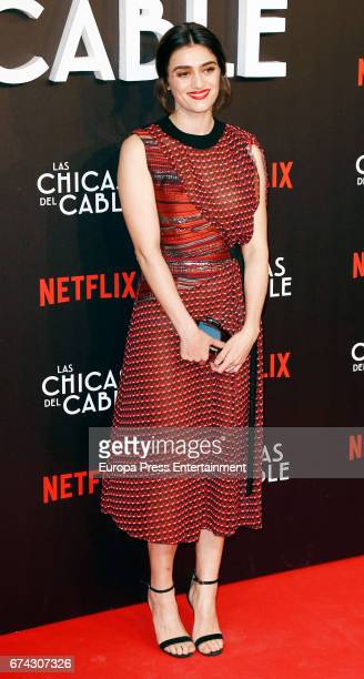 Olivia Molina attends the premiere of Netflix's 'Las Chicas del Cable' on April 27 2017 in Madrid Spain