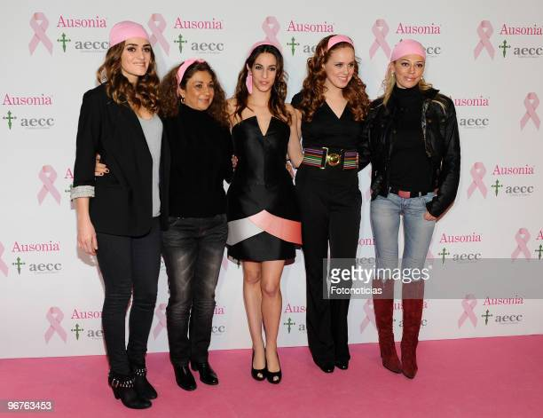 Olivia Molina Lolita Flores Almudena Cid Maria Castro and Belen Esteban attend 'Ausonia Against Breast Cancer' event at Moma on February 16 2010 in...